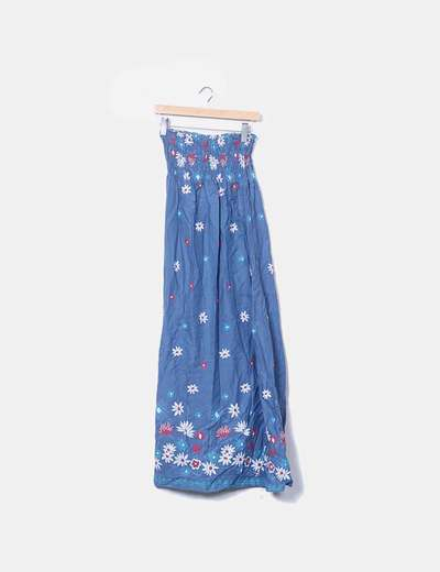 Maxi vestido anzul print floral