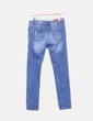 Jeans denim azul detalles desgastados Stradivarius