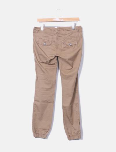 Pantalon marron baggy
