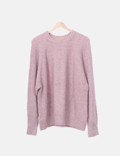 Jersey tricot rosa palo