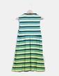 Vestido de rayas en tonos verdes Custo Barcelona