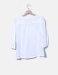 Blusa blanca manga francesa Springfield