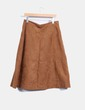 Falda midi marrón de antelina Soft Grey