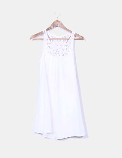 a65eea02d Stradivarius Vestido blanco perla crochet (descuento 76%) - Micolet