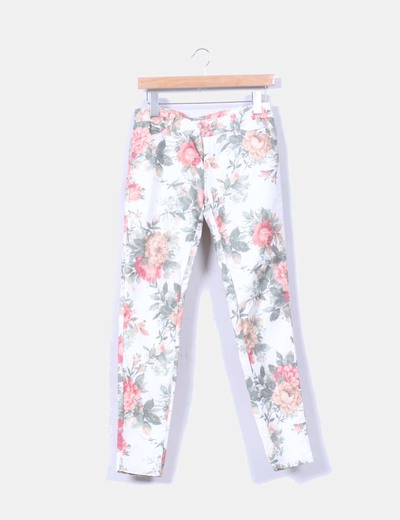 Jeggings denim floral Zara