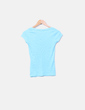 Camiseta azul cuello pico Chiripa