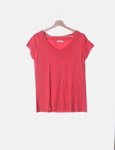 Camiseta tricot rosa