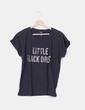 "Camiseta negra ""Little black dress"" Mango"