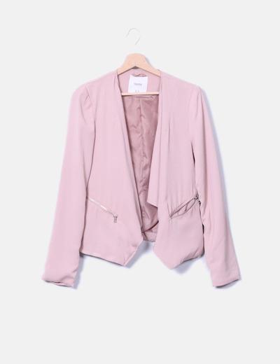 Blazer rosa Pull&Bear