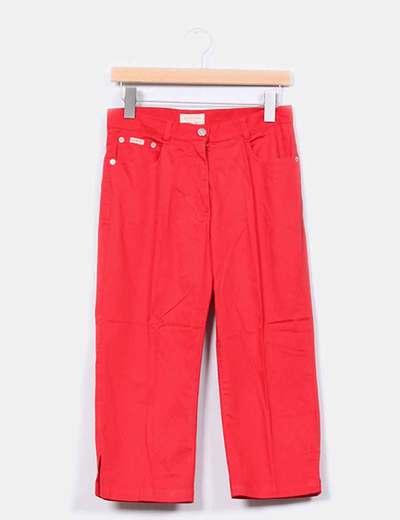 Pantalón pirata rojo Southern Cotton