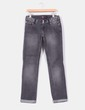 Jeans recto gris con strass Stradivarius