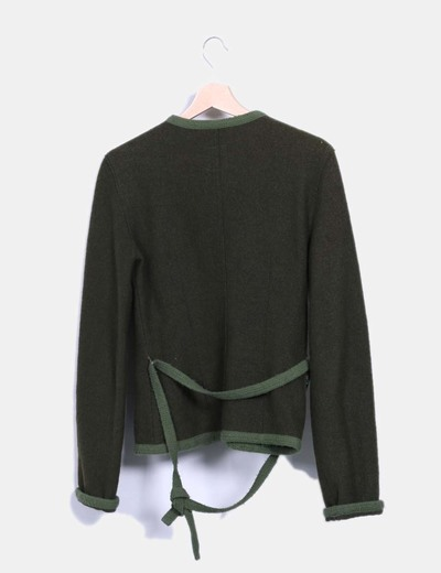 Chaqueta verde de lana