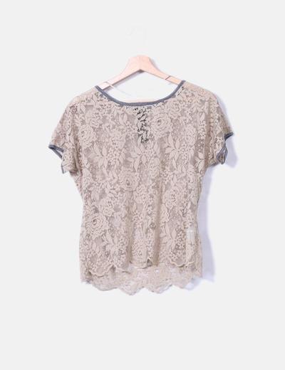 Camiseta encaje Pull&Bear