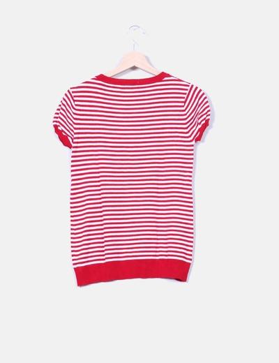 Jersey rayas blanco y rojo