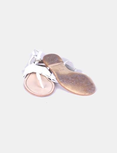 Sandalia blanca lazo