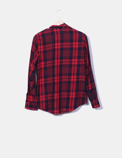 2ffde7c6d0ef1 Zara Camisa de cuadros roja y negra (descuento 85%) - Micolet