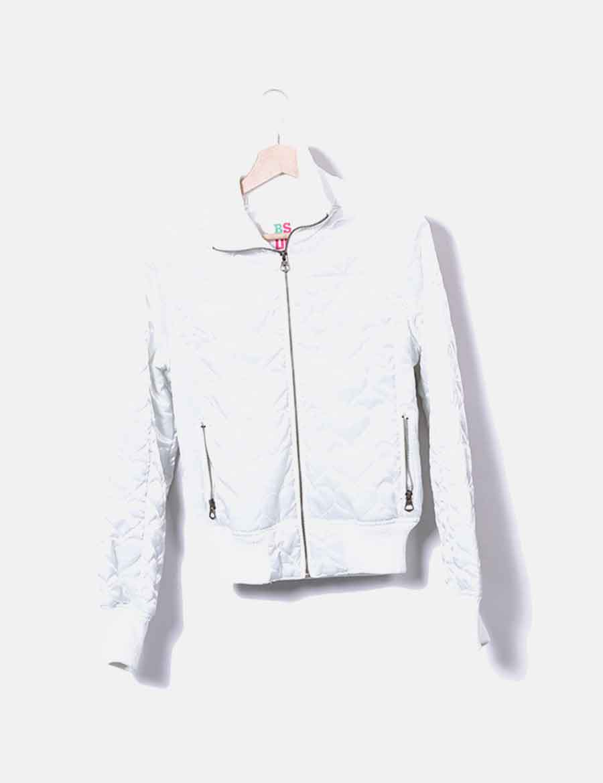 30cc295c12e blanca Abrigos Bershka y satinada baratos de Chaquetas Mujer online Bomber  d1qBXq ...
