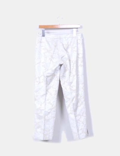 Pantalon beige texturizado