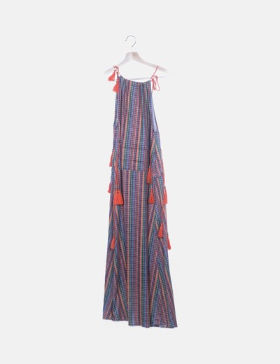 Vestido vichy multicolor