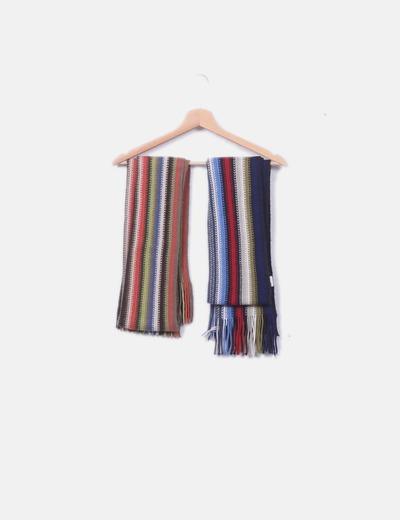 Conjunto 2 bufandas multicolor