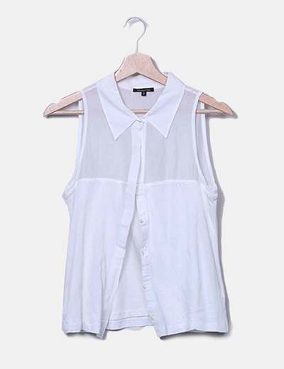 Camisa blanca tirantes Massimo Dutti