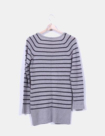 Jersey gris de rayas
