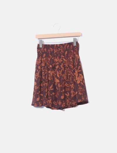 Falda estampada naranja