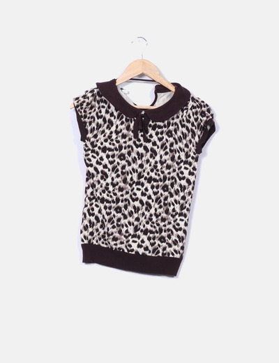 Top tricot leopardo Suiteblanco