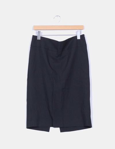 Falda negra midi Zara