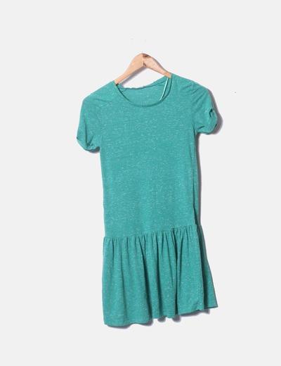 Vestido verde jaspeado Lefties