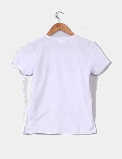 0f8a3fb90b6b2 NoName Camiseta blanca print pestañas y boca (descuento 41%) - Micolet