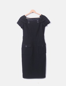 Vestido negro midi detalle botones Purificación García 5727d5e4fe1