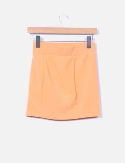 Mini falda elastica naranja