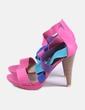 Sandalia de tacón multicolor Farasion