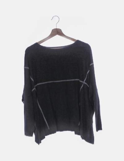 Jersey tricot oversize negro