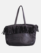 Bolso de piel con flecos Made in Italy