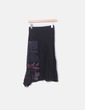 Falda midi negra lateral letras Desigual