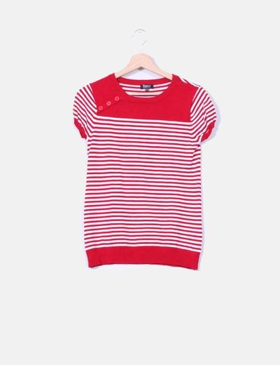 Jersey rayas blanco y rojo Suiteblanco
