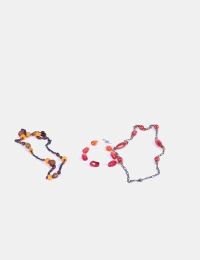 Conjunto tres collares combinados resina NoName