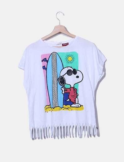 2957925cf Zara Camiseta blanca flecos snoopy (descuento 71%) - Micolet