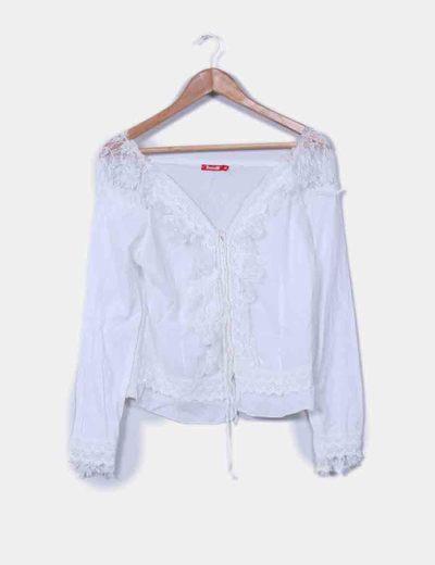 Blusa blanca combinada Swallow