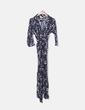Combinaison noire longue florale Zara