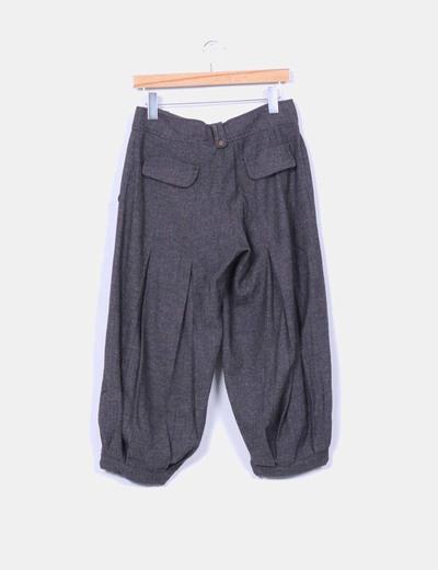 Pantalon baggy gris jaspeado