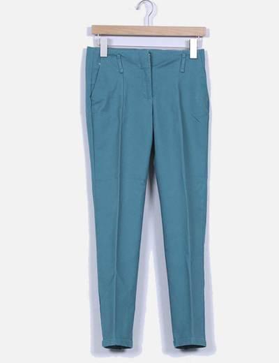 Pantalón de pinzas verde Zara