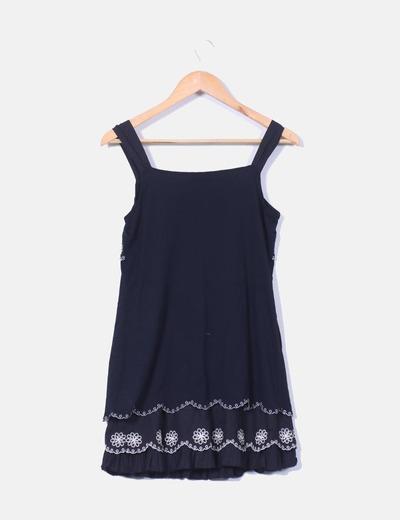 Mini vestido con detalle brillante