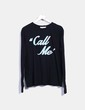 Top negro print 'Call me' Wildfox