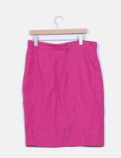 Falda rosa fucsia lisa