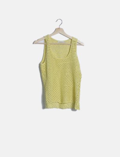 Camiseta crochet amarilla