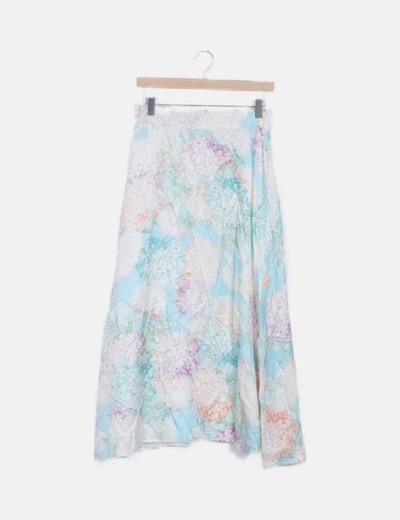 Falda floral maxi