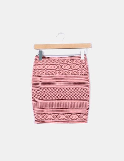 Mini falda flúor texturizada Lefties